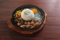 Hotplate Chicken Pepper Rice with Egg