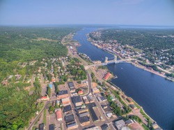 Houghton and It's Lift Bridge and located in the Upper Peninsula of Michigan