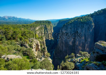 hound canyon near koprulu kanyon Stok fotoğraf ©