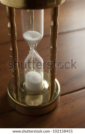 hourglass close-up