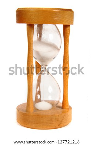 hourglass isolated on the white background - stock photo