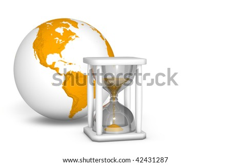 Hourglass measuring the time out
