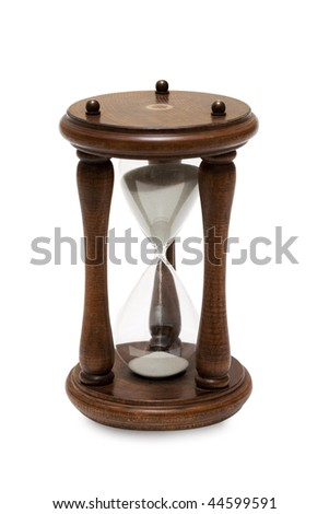 Hourglass on white with soft shadow - stock photo