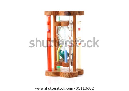 Hourglass, sandglass, sand timer, sand clock isolated on  white background