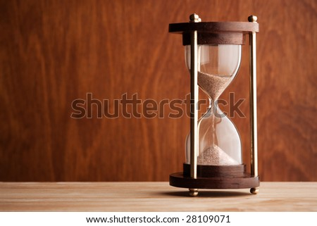 hourglass ,selective focus on center of sand glass