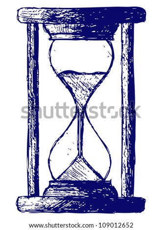 Hourglass sketch. Raster