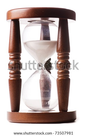 Hourglasses isolated on white background