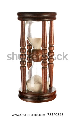 Hourglasses isolated on white background - stock photo