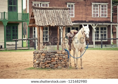 hourse at the Historic wild west town style