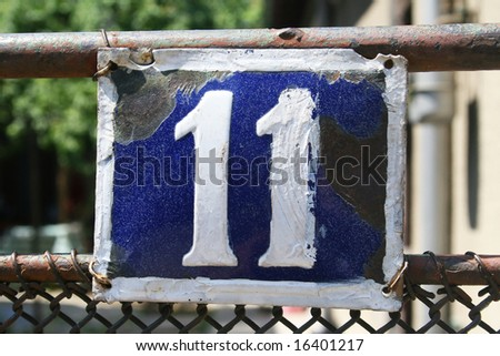 House address plate number 11