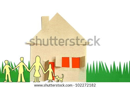 house and family