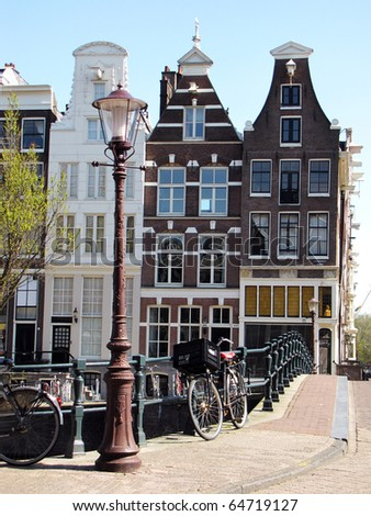 House architecture in Amsterdam