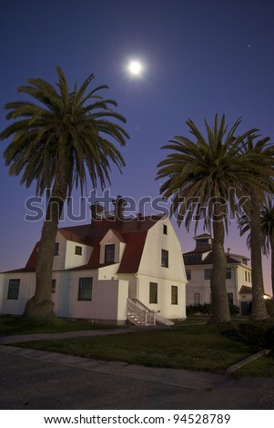 House at Crissy Field in San Francisco in the Moonlight