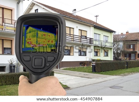 House Basement Thermal Imaging Analysis with Infrared Camera