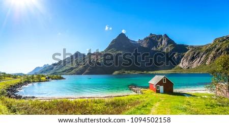 House, Beach, Trollfjord, Lofoten, Norway  #1094502158