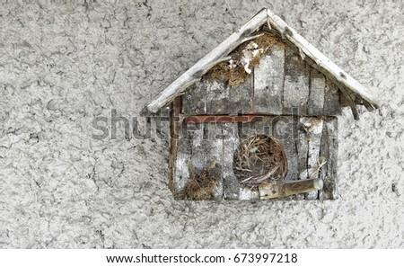 House bird wood birdie vintage                           #673997218