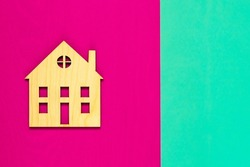 House . building,  edifice, construction, fabric. The symbol of the home. Construction of  building. Concept Construction of housing.