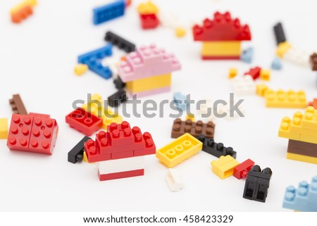 House building from plastic block #458423329