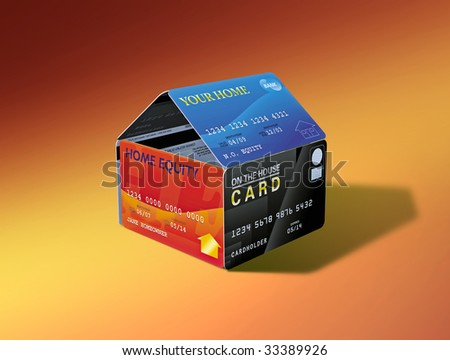 House built out of equity-linked debit cards