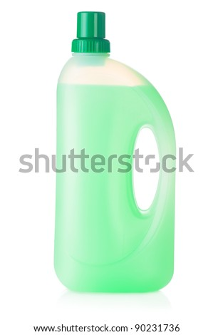 House cleaning product. Plastic bottle with detergent isolated on white background