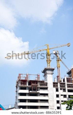 house construction and nice blue sky