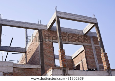house construction from brick