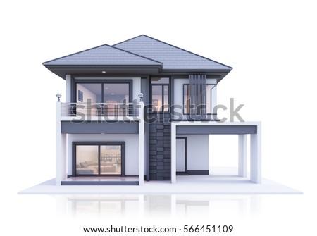 house 3d rendering