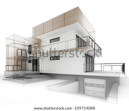 House design progress architecture drawing and for Architecture house luxury design drawing