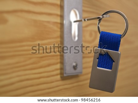 House door exterior with keyhole