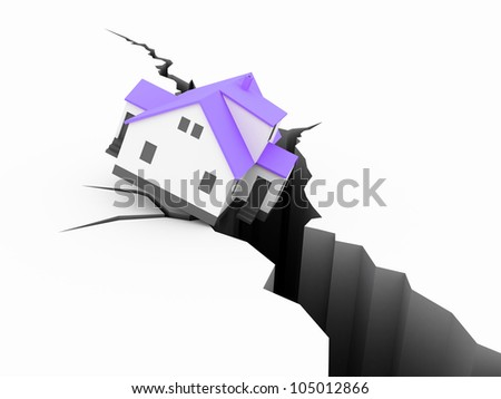 house Earthquake Concept
