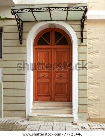 House entrance, Athens Greece