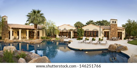 House Exterior with swimming pool
