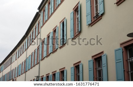 House facades in Speyer, Germany