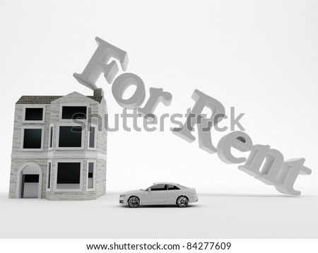 house for rent isolated on white background