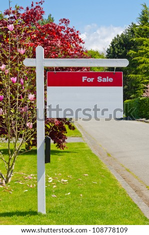 House For Sale Real Estate Sign