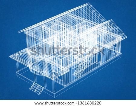 House Framework 3D Renderings