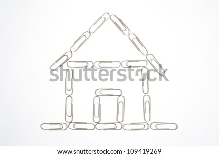 house from the paper clips of offices