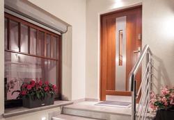 House front door in modern minimalistic design