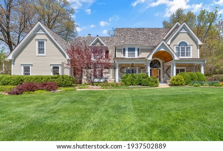 House Front Exterior Real Estate Foto stock ©