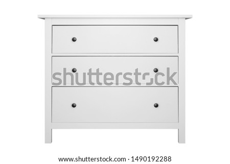 House furniture - Modern commode isolated white background.