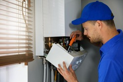 house gas heating boiler maintenance and repair service