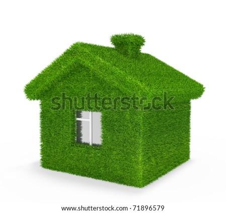 House, grass, ecology,