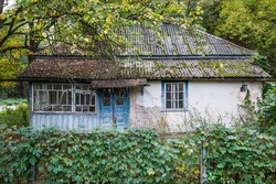 House in Chernobyl town, Chernobyl Nuclear Power Plant Zone of Alienation, Ukraine
