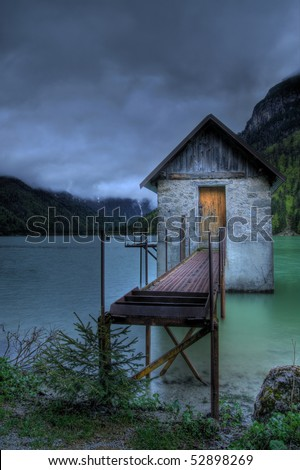 House in lake