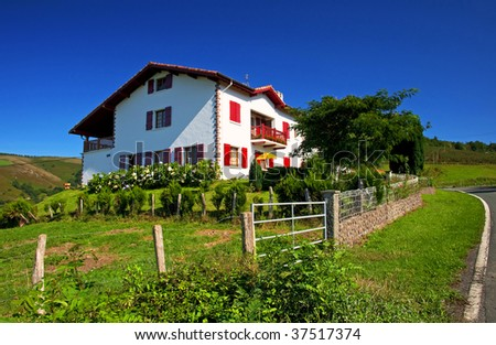 House in the mountain - stock photo