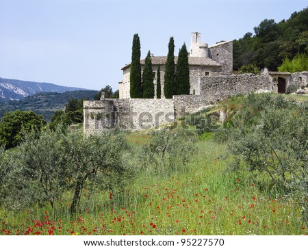 House in the Provence, southern France