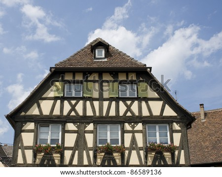House in village from Alsace. France - stock photo