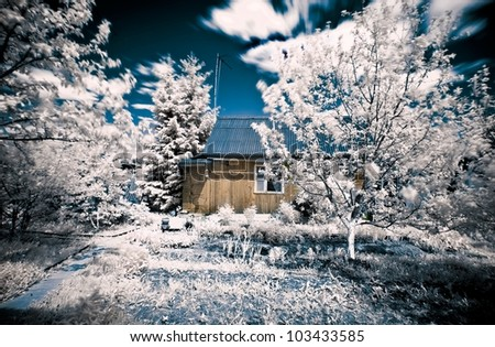 house in village infrared