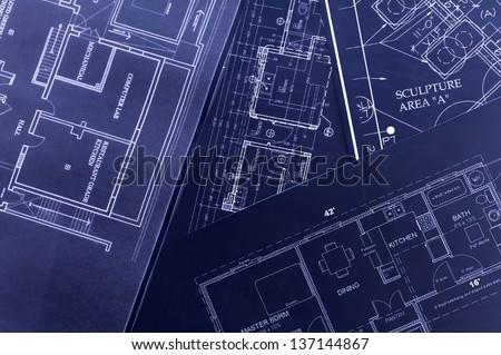House interior design, concept of home architecture