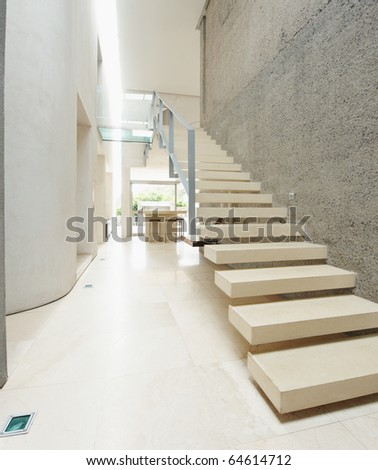 House Interior Of Modern Wood Stairs Stock Photo 646147
